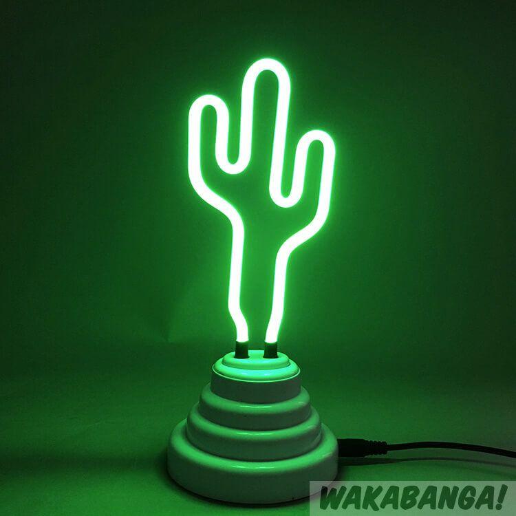 Lámpara de de neón Lámpara neón Lámpara Cactus Cactus de neón Cactus 8nkOXw0P