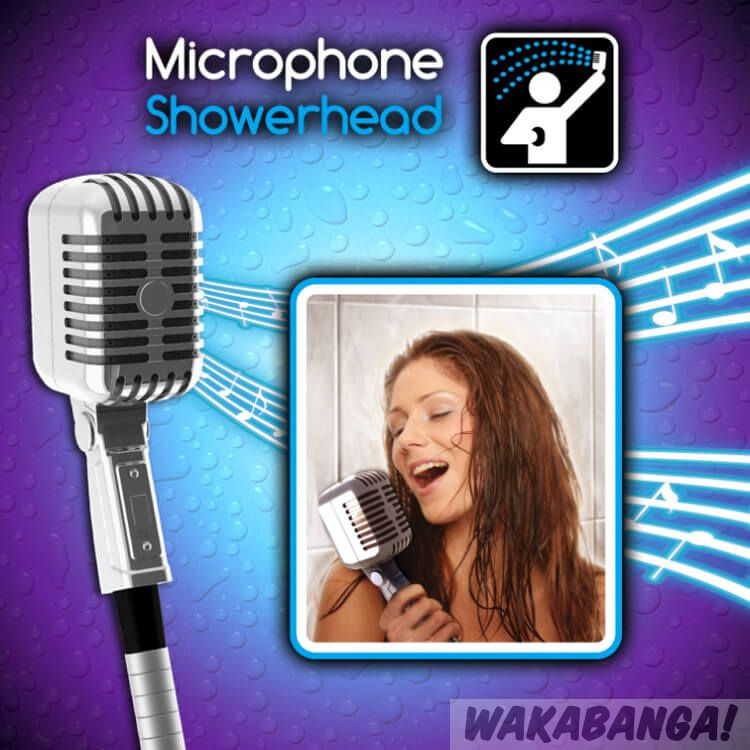 Cabezal De Ducha Microfono Retro Wakabanga