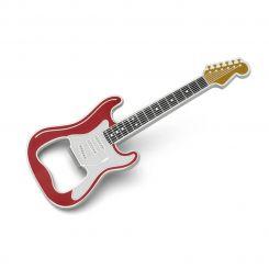Guitarra Clásica roja imán abridor de botellas
