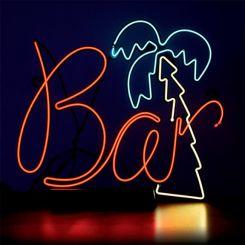 Lámpara electroluminiscente señal Bar con una palmera