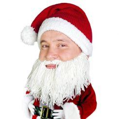 Gorro con barba Papá Noel vikingo