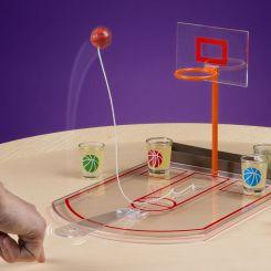 Juego para beber, basket de escritorio con chupitos