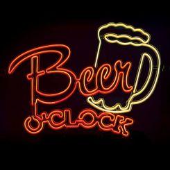 Lámpara electroluminiscente (efecto neón) Beer O'Clock