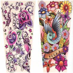Set Chicas 2 Mangas de brazo tatuadas