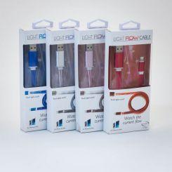 Cable Flow USB-C a USB que se ilumina al cargar