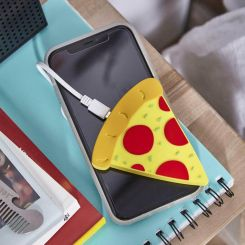 Cargador inalámbrico con forma de porción de Pizza
