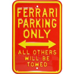 "Placa decorativa de acero ""Ferrari Parking only"""