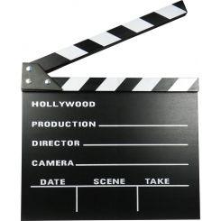 Claqueta de cine de madera