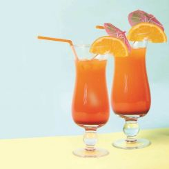 Set Cocktail Tequila Sunrise con dos copas