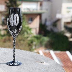 Copa de Champagne negra 40