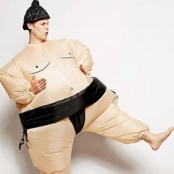 Disfraz hinchable luchador de Sumo