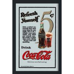 Espejo Coca-Cola modelo 5 centavos