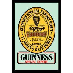 Espejo Guinness Modelo Logo Amarillo