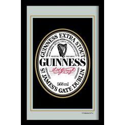 Espejo Guinness modelo Logo Blanco