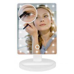 Espejo tocador luces regulables con espejo lupa x10