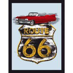 Espejo Ruta 66 modelo Cadillac rojo