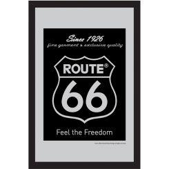 Espejo Ruta 66 modelo Logo negro
