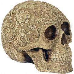 Figura decorativa Cráneo Flores
