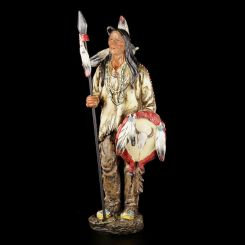 Figura Indio Americano con Escudo y Lanza