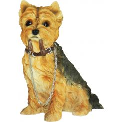 Figura perro Yorkshire Terrier sentado