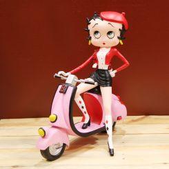 Figura Betty Boop en Scooter
