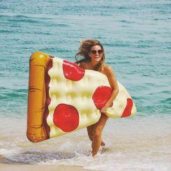Colchoneta trozo de Pizza gigante