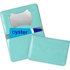 "Funda tarjeta transporte azul ""compradora compulsiva"""
