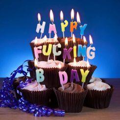 Velas de cumpleaños Happy Fucking Bday