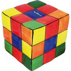 Hucha en forma cubo de colores