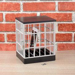 Jaula prisión con candado para móviles