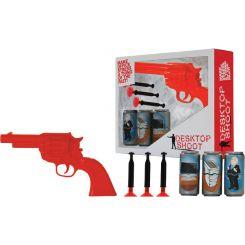 Juego de pistola de dardos con latas