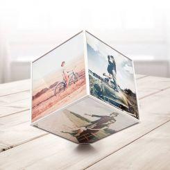 Marco para 6 fotos Kube: Cubo giratorio (10x10 cm)