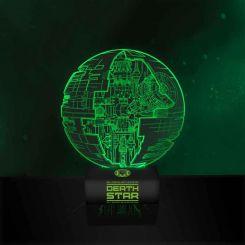 Lámpara ambiental verde Estrella de la Muerte