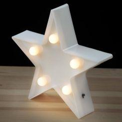 Lámpara decorativa LED estrella pequeña
