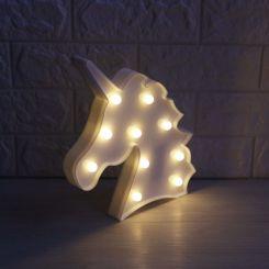 Lámpara cabeza Unicornio