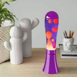 Lámpara de lava color púrpura y roja