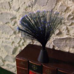 Lámpara negra mini de fibra con luz azul