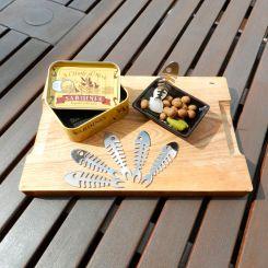 Palillos sardina en lata vintage aperitivos