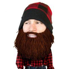 Gorro con barba modelo Leñador