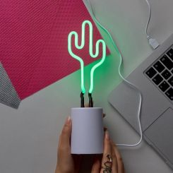 Lámpara de neón Cactus