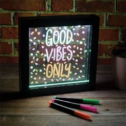 Lámpara efecto neón para escribir mensajes
