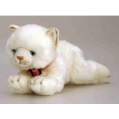 Gato peluche color blanco Misty