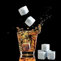 Cubitos de piedra natural para enfriar bebidas
