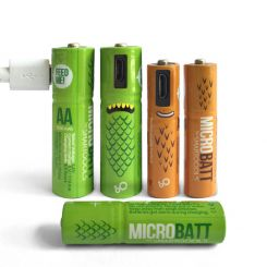 Pilas recargables USB Microbatt