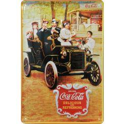 Placa decorativa de metal Coca-Cola retro