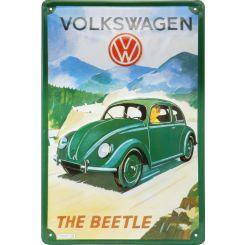 Placa decorativa de metal Beetle o Escarabajo de Wolkswagen