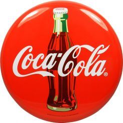Placa decorativa de Coca-Cola