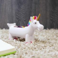 Unicornio Portacelo con celo multicolor