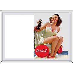 Portafotos serigrafiado Coca-Cola modelo chica