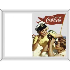 Portafoto serigrafiado Coca-Cola modelo Pareja